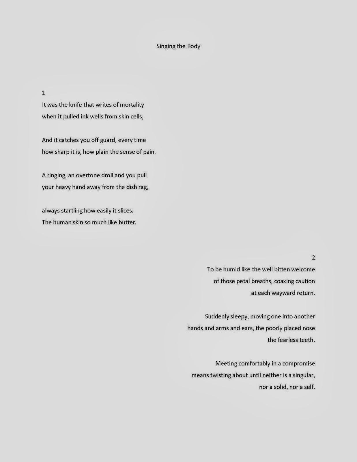 December 2013 Ecw Poetry